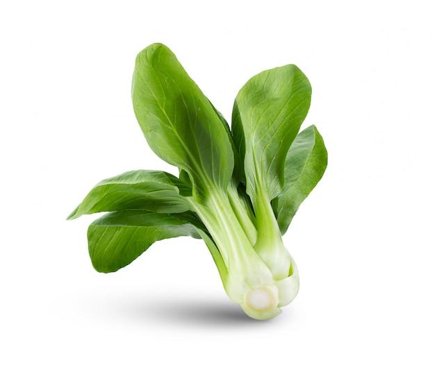 白いテーブルの上の青菜野菜。