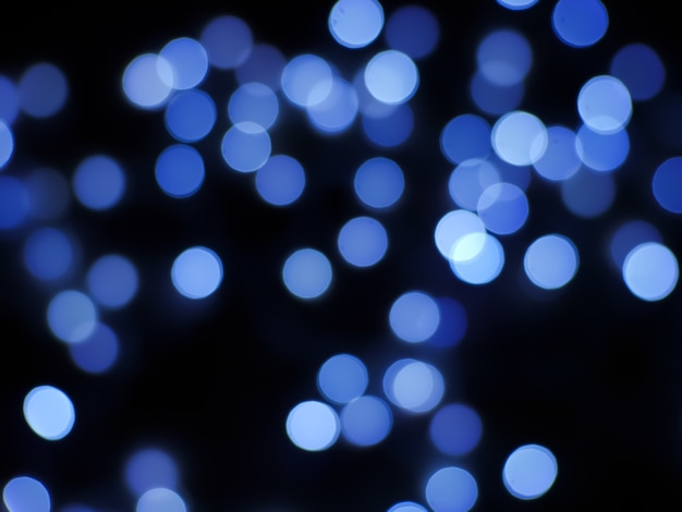 Bokeh abstract background with blue light color