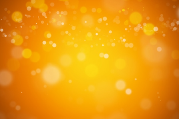 Bokeh abstract blurred orange and yellow beautiful background