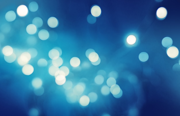 Bokeh on blue background, abstract background