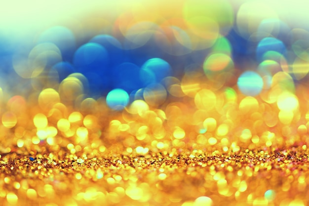 Bokeh colorfull blurred abstract background for birthday, anniversary, new year eve or chr