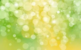 Bokeh dots green