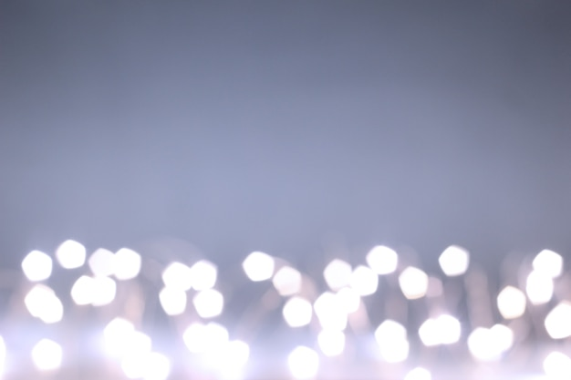 Bokeh effect. the garland's out of focus. save space. festive background.