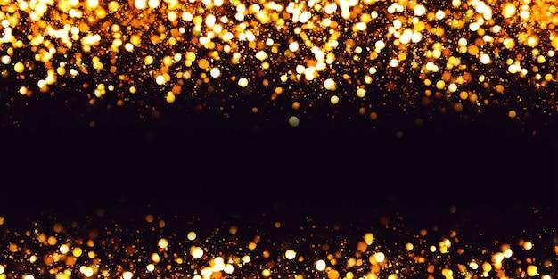 보케 효과 반사 반짝이와 고급스러운 질감의 먼지 입자