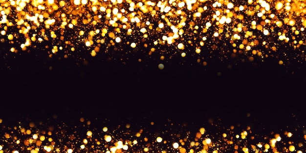 Bokeh effect reflections glitter and luxury textured dust particles
