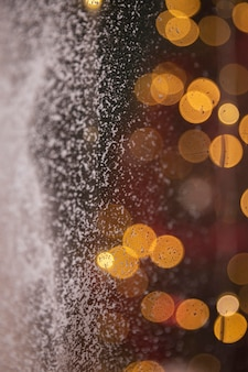 Bokeh effect with snow