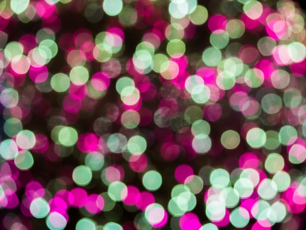 Bokeh and flare of blured background night scene