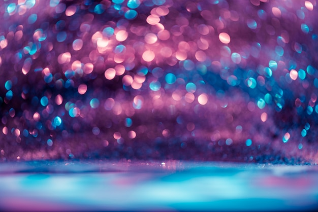 Bokeh glitter colorfull blurred abstract background for anniversary, new year eve or christmas