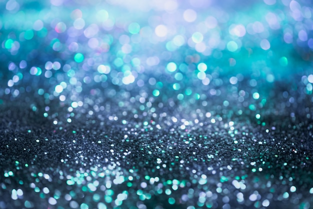 Bokeh glitter colorfull blurred abstract background for anniversary
