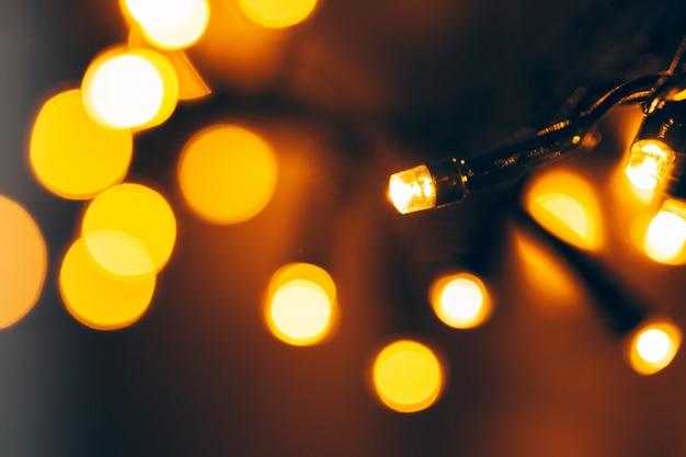 Боке свет праздник гирлянды крупным планом