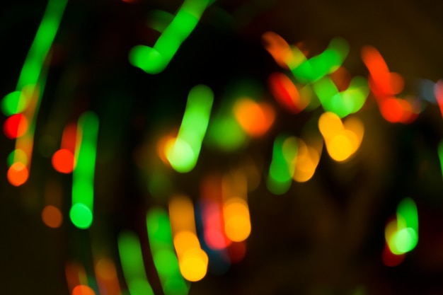 Bokeh lights on black background. bokeh abstract lights background.