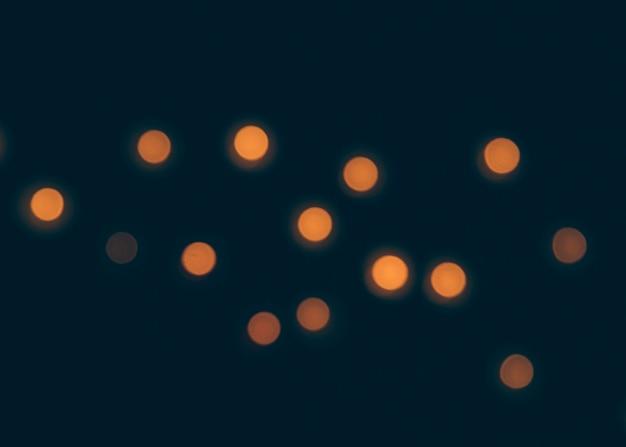 Bokeh lights on black background