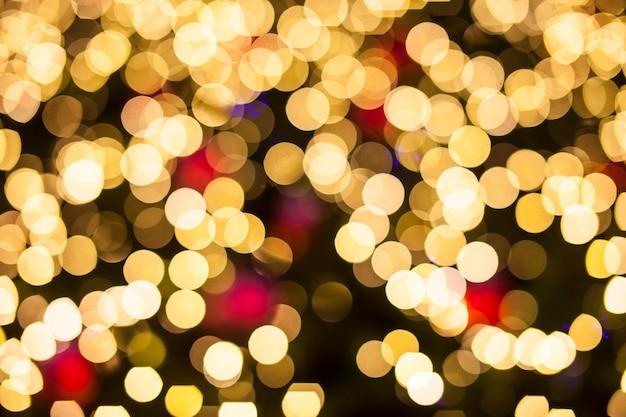 Bokeh lights christmas background.