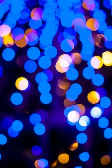Bokeh lights christmas surface.