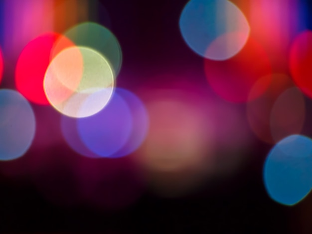Bokeh lights colorful defocused