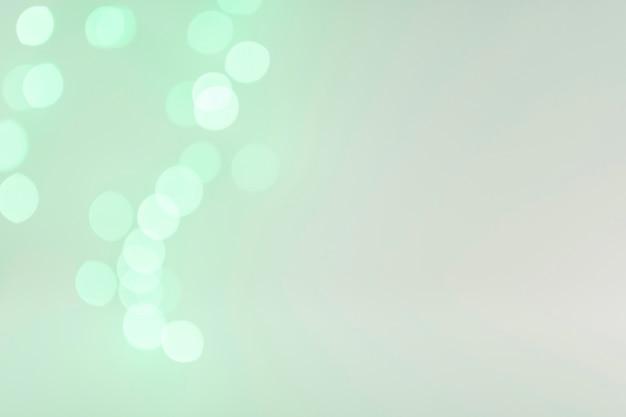 ボケが緑色に輝く