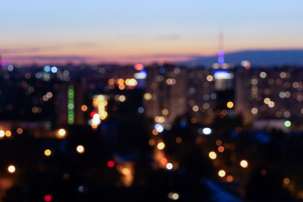 Bokeh night city