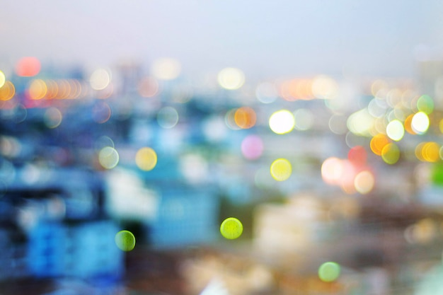 Bokeh pictures in the city