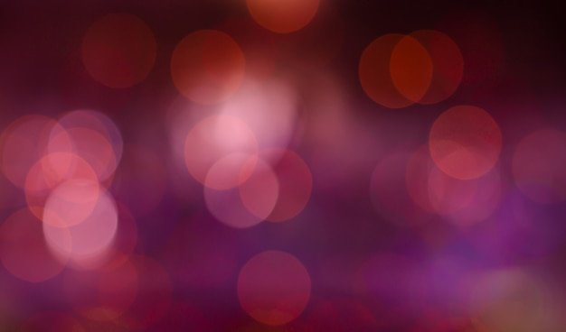 Bokeh purple red banner background