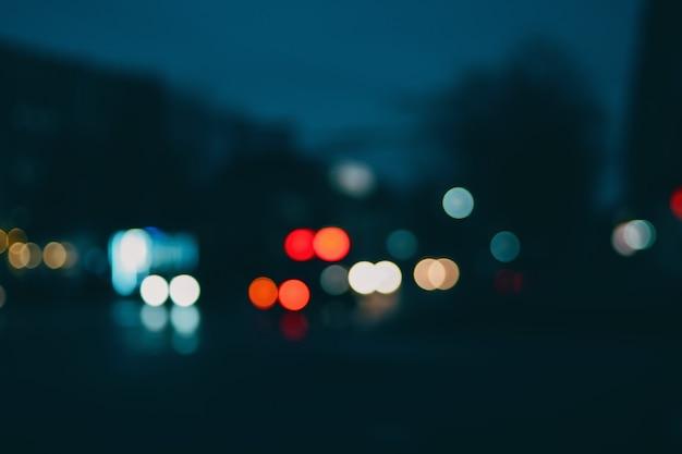 Bokeh urban blurring colours concept.