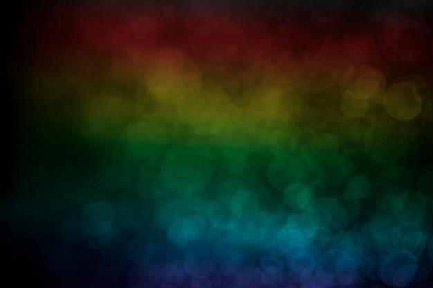 背景のボケ水ドット虹