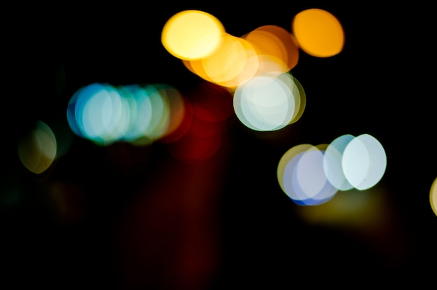 背景、bokeh、壁紙、街灯、前後に走る車。