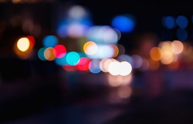 Bokehはドライブウェイがたくさんある都市にあります。色とりどりで美しい。