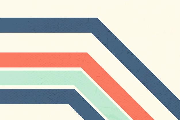 Bold color bent line pattern on a beige background