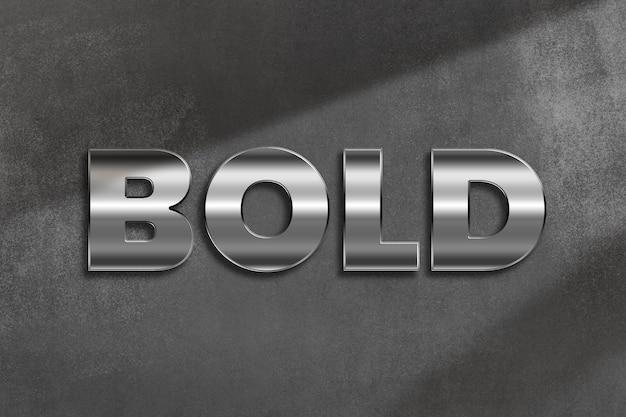 Bold word in metallic style