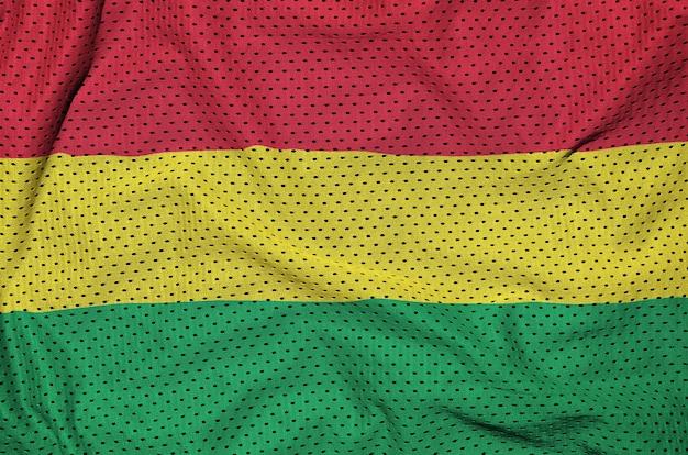 Bolivia flag printed on a polyester nylon mesh
