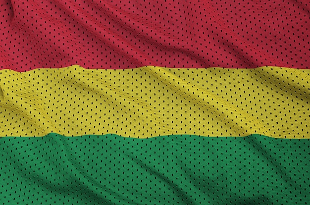 Bolivia flag printed on a polyester nylon sportswear mesh fabric