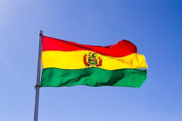 Bolivian flag that waves, bolivia