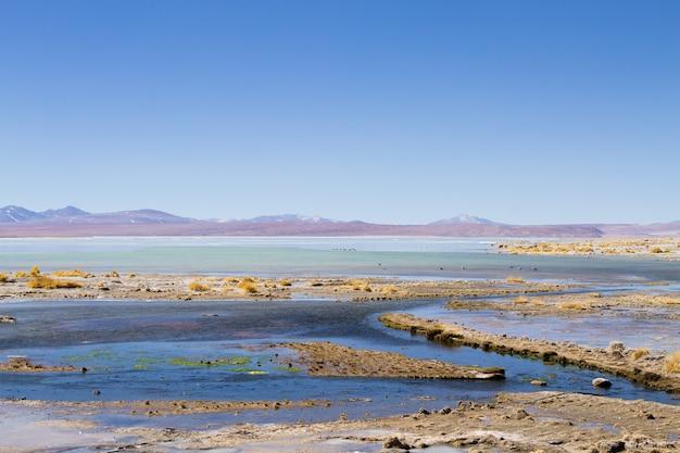 Пейзаж боливийской лагуны