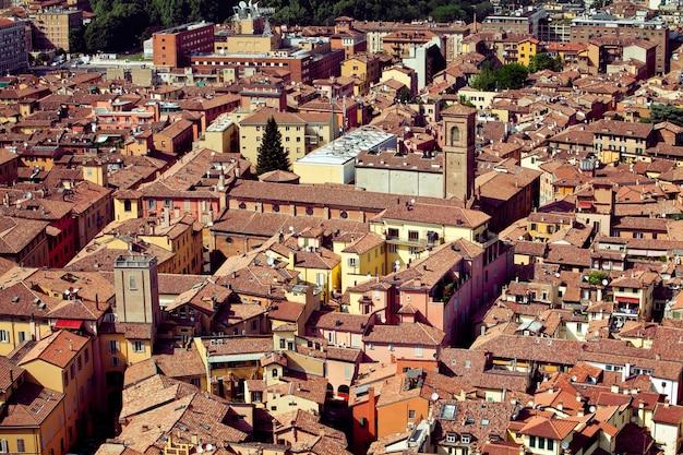 イタリアのボローニャ空中シティビュー