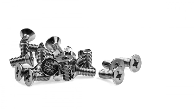 Bolts isolated on white background