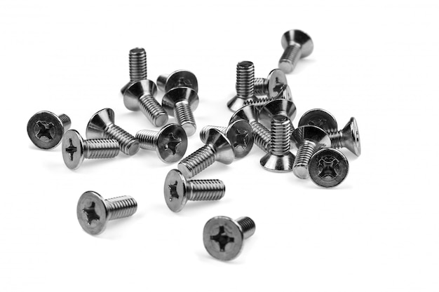 Bolts and screws isolated