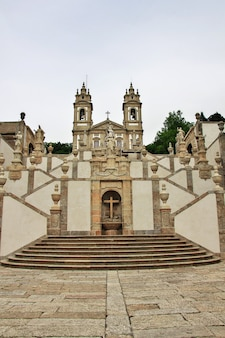 Bom jesus do monte church in braga city, portugal