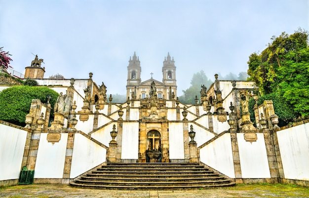 Bom jesus do monte sanctuary in tenoes near braga portugal