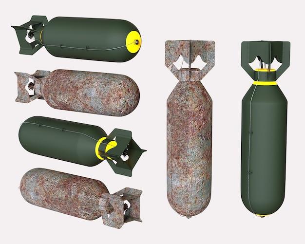 폭탄. 3d 그림