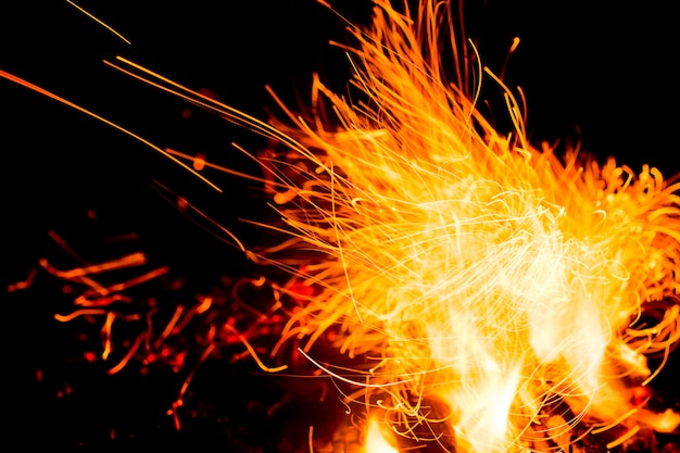 夜のbonき火と炎。