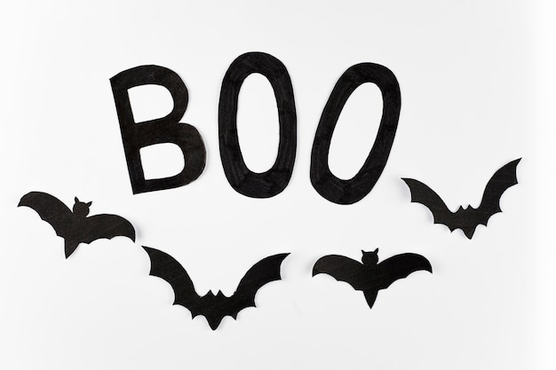Boo word and bats