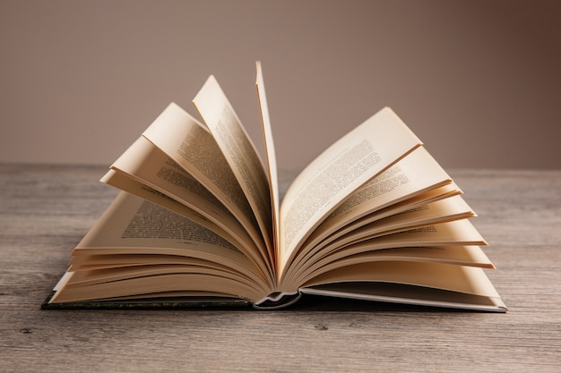 Book composition with open book