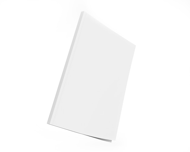 Book cover clear mockup notepad face side view sketchpad template blank paper note Premium Photo