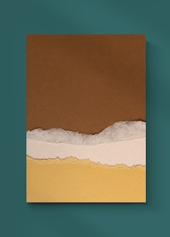 Book cover ripped paper craft diy in earth tone