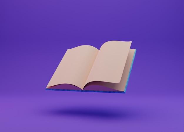 Book illustration, 3d rendering