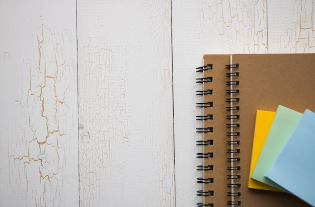 Book and memo paper notes