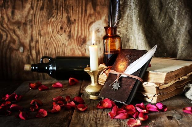 Книжная ручка свеча романтика