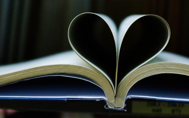 Book sheet doing a heart