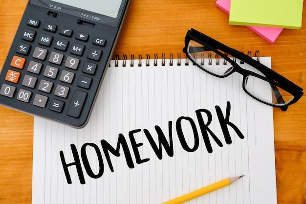 Book top view conceptual of homewor school notebook