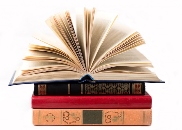 A book on white background. isolated books